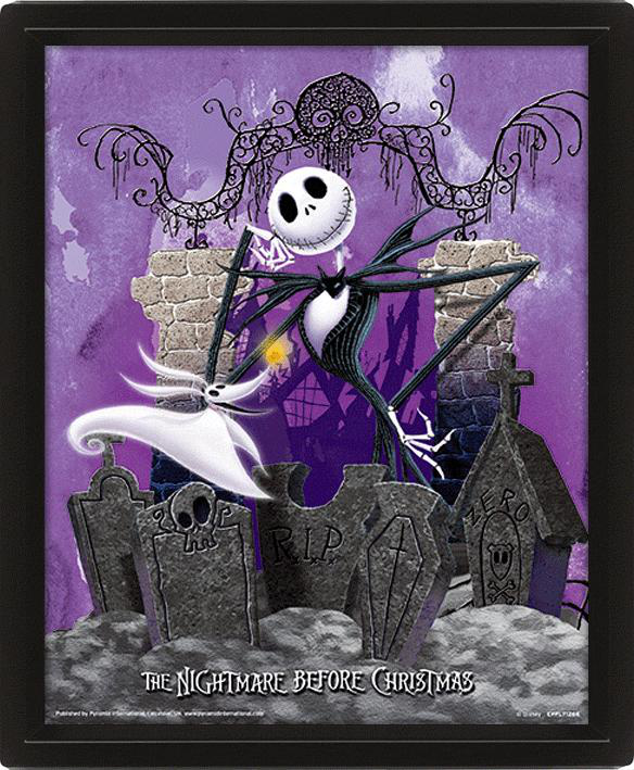 Disney Movies Cadre 3D 26 x 20, Jack Skellington