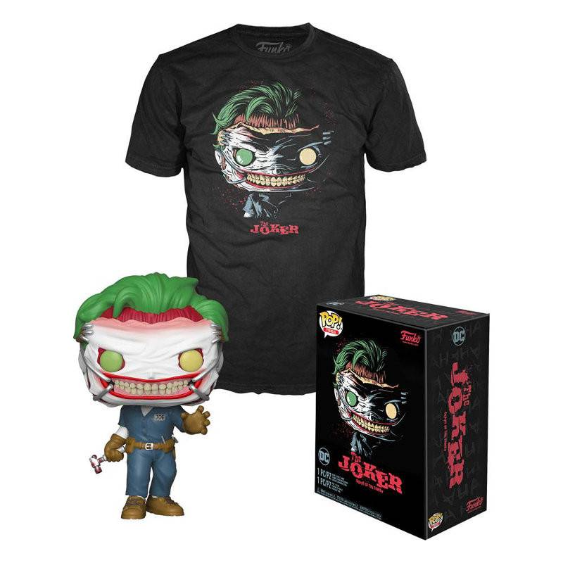 DC Collection Exclusive POP & Tee, Joker Death in the Family (Taille XL)